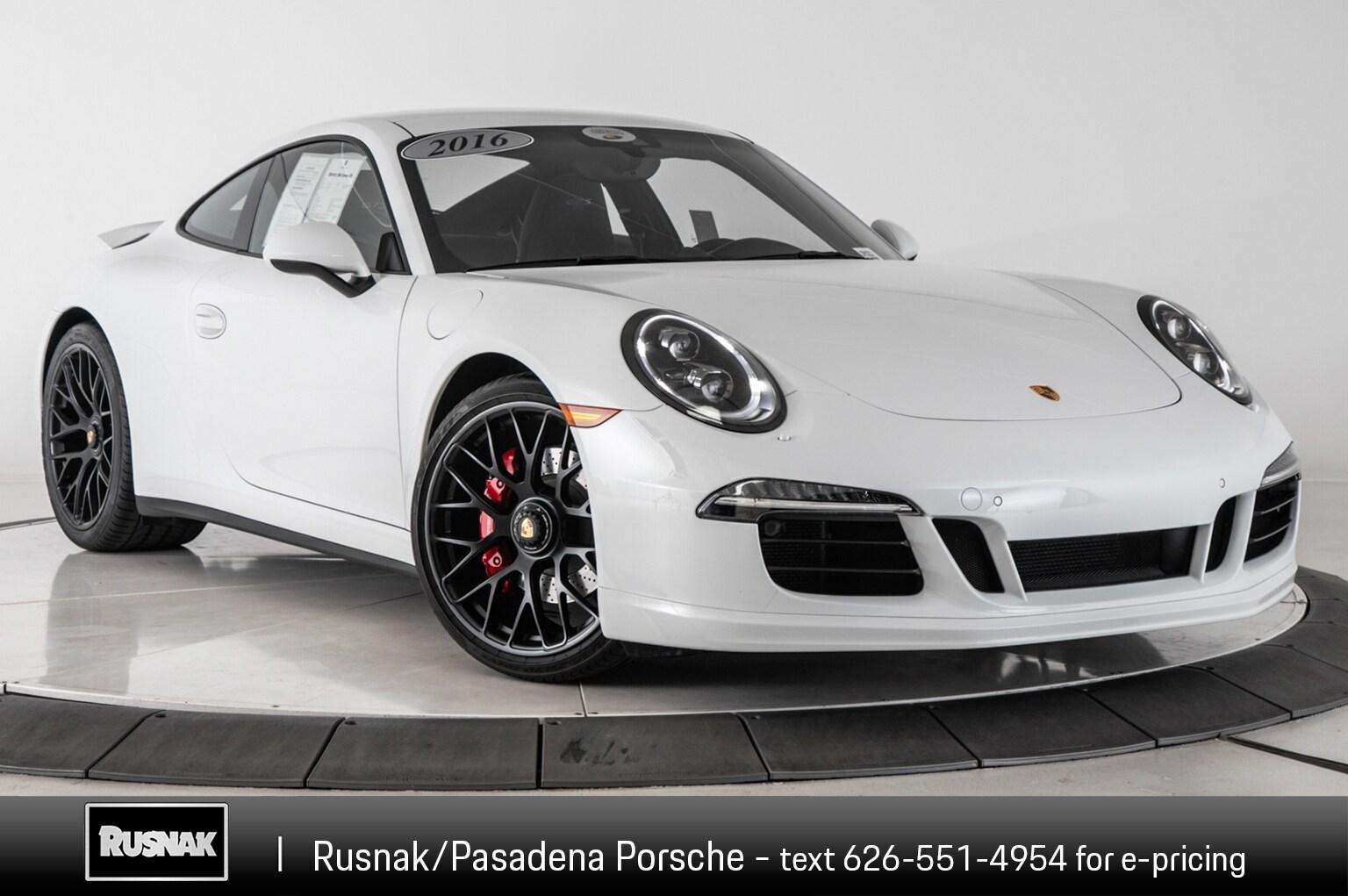 Certified Pre Owned 2016 Porsche 911 Carrera Gts
