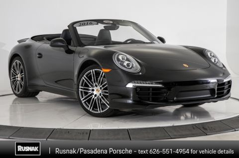 Certified Pre-Owned 2016 Porsche 911 Black Edition Cabriolet